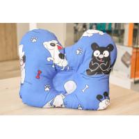 Подушка ортопедическая для новорожденных Олви (голубой цвет)