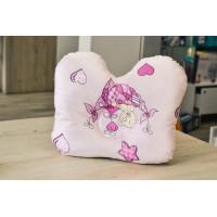 Подушка ортопедическая для новорожденных Олви (розовый цвет)