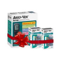 Глюкометр Акку-Чек Актив + 110 тест полосок. Акционный набор - мишка Тедди в подарок!!!