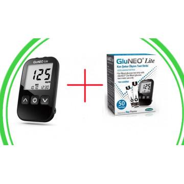 Акционный набор глюкометра Gluneo Lite (+50 тест-полосок)