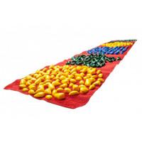 Коврик-дорожка массажный с цветными камнями (200*40 см) детский развивающий + запасные камушки