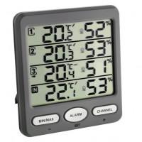 Термогигрометр цифровой 30305410 Klima-Monitor TFA + 3 внешних датчика