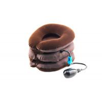 Воротник на шею пневмотический тип 3 JS Medical, коричневый 1-х ходовой