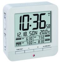 Будильник цифровой 60253602 TFA белый с термометром