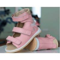 Босоножки ортопедические для девочек Ortofoot BabyOrtoBasic розовые с бабочкой