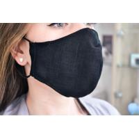 Медицинская многоразовая защитная черная маска