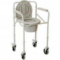 Складной стул-туалет на колесах 2110JW OSD